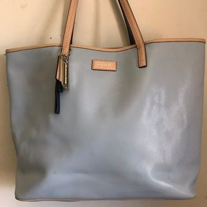 Coach large leather tote bag